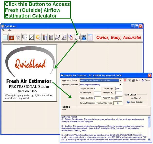 Qwickload Hvac Heat Load Calculation Software Program Air